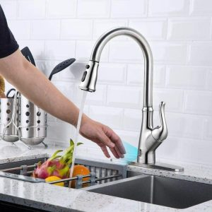 3. Touchless Kitchen Faucet with Pull Down Sprayer